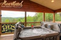 Hot tub at this pet friendly cabin in Pigeon Forge