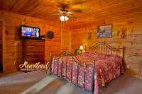Bedroom of this Pet friendly cabin close to Pigeon Forge