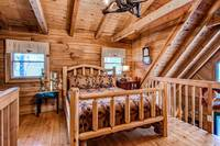 Bedroom in the upstairs loft