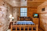 Bedroom with tv for the kids
