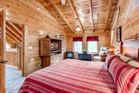The master bedroom of two bedroom pet friendly cabin