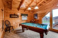 Game area in loft of a Pigeon Forge Cabin Rentals
