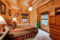2nd Bedroom of a Pigeon Forge Cabin Rentals