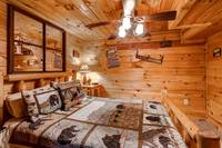 Cabin's guest bedroom