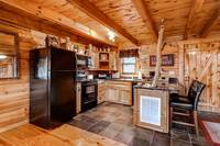 Full Kitchen of this 2 bedroom cabin rental