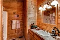 Cabin has 2 full baths