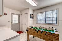 Foosball table and washer and dryer