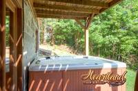 Hot tub on the lower level of this 3 bedroom cabin located between Pigeon Forge and Gatlinburg