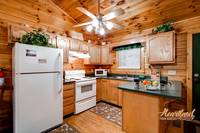 Full kitchen in this 1 bedroom cabin near Gatlinburg - Affordable