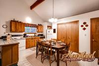 Full kitchen in this 2 bedroom affordable chalet in Pigeon Forge