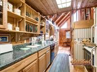 Full Kitchen of this 2 bedroom cabin near Pigeon Forge, TN