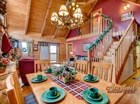 Pigeon Forge Cabin Rental 2 Bedroom decorated for Christmas