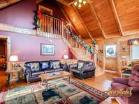 Two Bedroom Pet Friendly Cabin in Pigeon Forge - decorated for Christmas