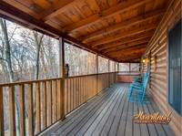 Covered deck of Bear Hug - 4 bedroom in Gatlinburg cabin rental