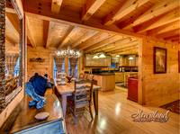 View of kitchen table - 4 bedroom in cabin rental close to downtown Gatlinburg