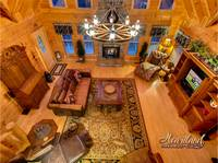 Aerial view of  the living room of Bear Hug - 4 bedroom in Gatlinburg cabin rental - Sleeps 8