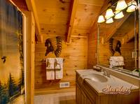Beautiful bathroom - Gatlinburg cabin rental