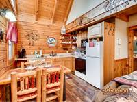 Full kitchen of this beautiful pet friendly cabin