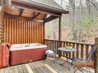 Hot tub on the back deck for privacy - 2 bedroom cabin in Wears Valley