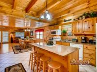 Full kitchen with all the amenites you need in this 5 bedroom cabin near Dollywood and Pigeon Forge