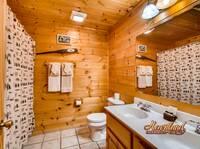 Full bathroom with double sinks