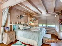 King bed perfect for a honeymoon in the Smokies