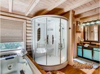 Luxury two person rain shower spa