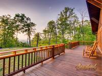 Porch of this beautiful 3 bedroom cabin located between Pigeon Forge and Gatlinburg