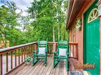 Entry way to Diamond in the Rough - a four bedroom cabin perfect for groups
