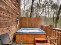Relaxing hot tub on the back deck