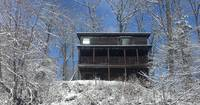 Snow covered 3 bedroom Gatlinburg cabin rental
