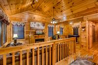 Living Area of Cuddlers Paradise Cabin in Gatlinburg, TN