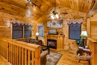 Living Room with gas fire place Gatlinburg Cabin Rental
