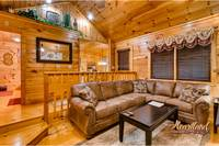 nice living area of Cuddlers Paradise Gatlinburg Cabin