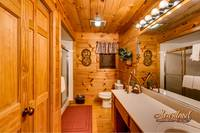 Bathroom with shower cabin Gatlinburg honey moon