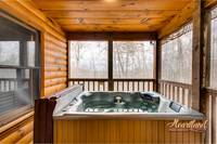 enjoy a romantic cabin rental with hot tub