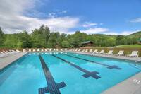 Enjoy a large swimming pool during the summer months in the Smokies
