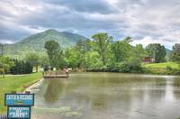 Enjoy the catch and release fishing pond during the summer months in the Smokies