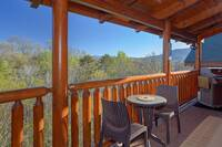 Rear deck of this beautiful cabin near Pigeon Forge, TN