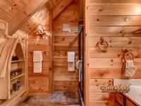 Full bathroom in this Wears Valley Cabin Rental