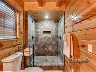 Luxurious bathroom in this 4 bedroom Wears Valley Cabin