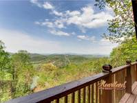 Beautiful mountain views from 4 bedrrom cabin Buzzards Roost in Wears Valley