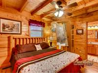 Mountain Breeze is a 2 bedroom cabin between Gatlinburg and Pigeon Forge