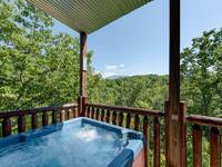 Hot tub with view of the Smoky Mountains