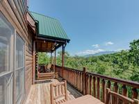 Back deck porch with views of the Smoky Mountains