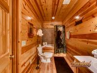 Spacious bathroom of this 3 bedroom cabin near Gatlinburg