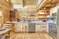 Full kitchen of Afternoon Delight - 1 bedroom cabin near Pigeon Forge