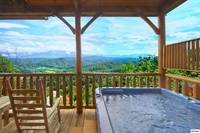 Private hot tub with a beautiful view of The Great Smoky Mountains!