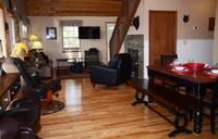 Dining room into living room (open floor plan)