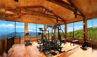 Free access to workout room with a view!